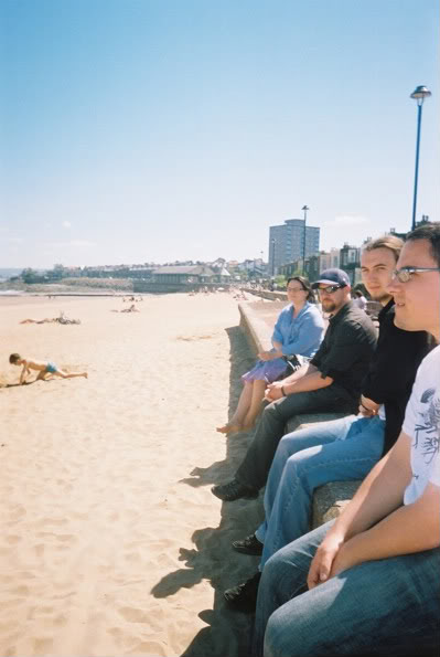 Rob näppäsi meistä muista kuvan Portobellossa, rannalla kaupungin itäpuolella.